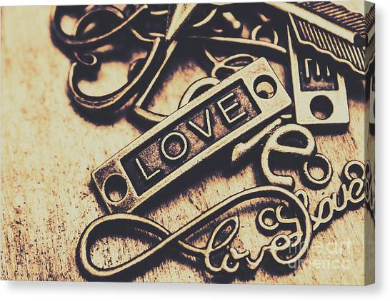 Presents Canvas Print - Rustic Love Icons by Jorgo Photography - Wall Art Gallery