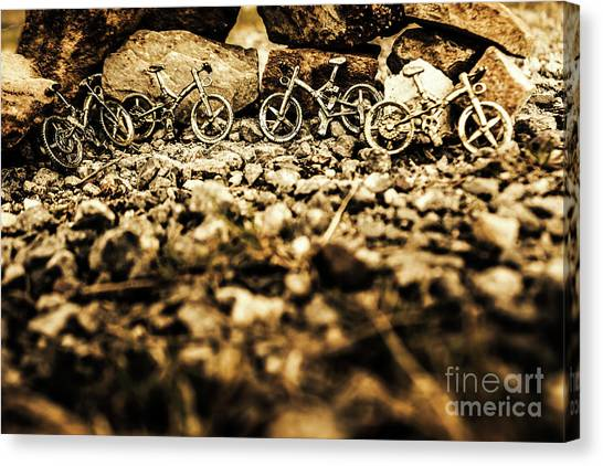 No-one Canvas Print - Rustic Mountain Bikes by Jorgo Photography - Wall Art Gallery