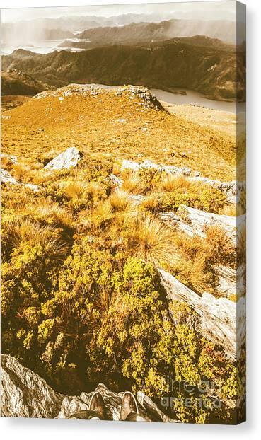 Boulder Canvas Print - Rustic Mountain Terrain by Jorgo Photography - Wall Art Gallery