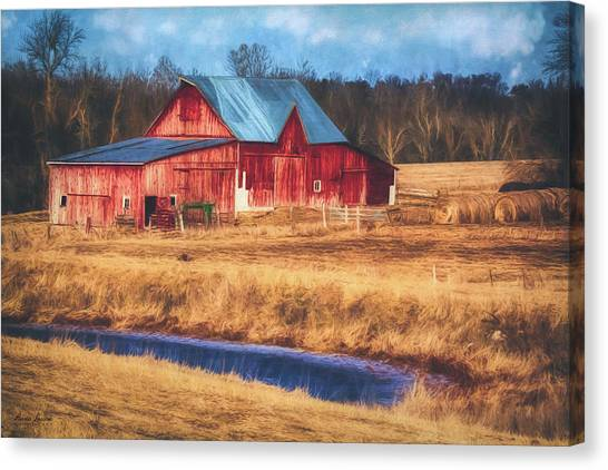 Rustic Red Barn Canvas Print