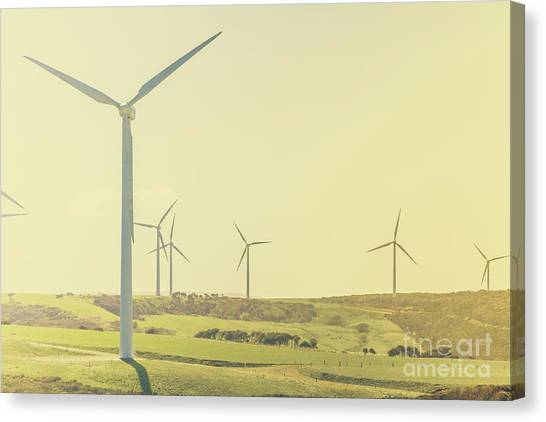Wind Farms Canvas Print - Rustic Renewables by Jorgo Photography - Wall Art Gallery