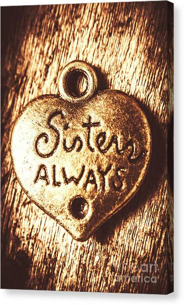 Sister Canvas Print - Rustic Sisters Always Charm by Jorgo Photography - Wall Art Gallery