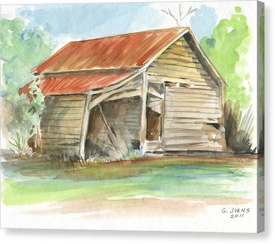 Weather Canvas Print - Rustic Southern Barn by Greg Joens