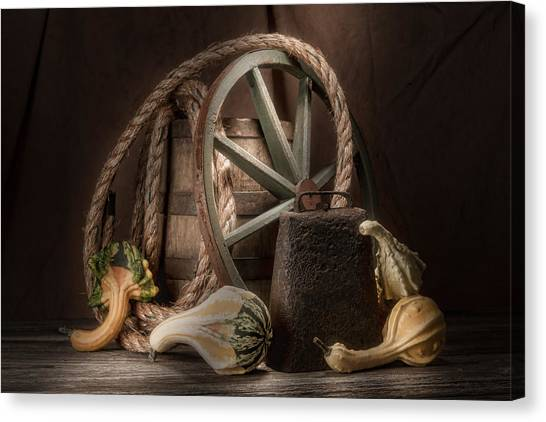Keg Canvas Print - Rustic Still Life by Tom Mc Nemar