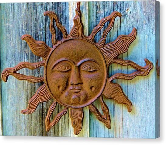 Rustic Sunface Canvas Print
