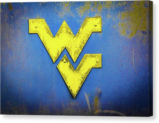 West Virginia University Wvu Canvas Print - Rustic West Virginia by Aaron Geraud