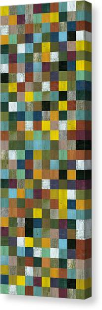 Rustic Wooden Abstract Tower Canvas Print
