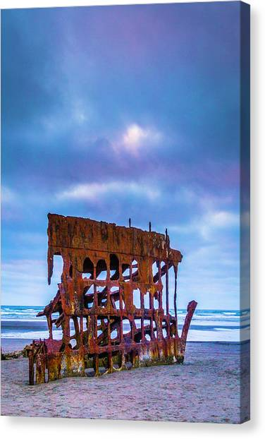 Peter Iredale Canvas Print - Rusting Peter Iredale by Garry Gay
