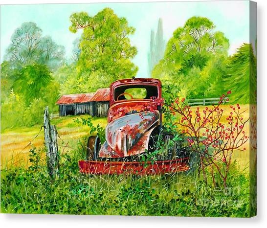 Rusting Canvas Print by Val Stokes