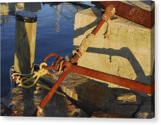 Rusty Anchor Canvas Print