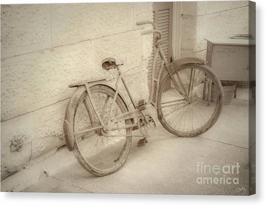 Rusty Bicycle Canvas Print