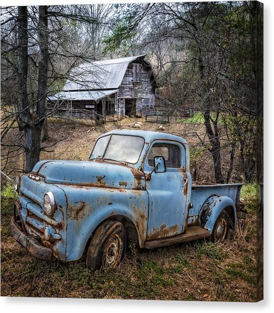 Rusty Blue Dodge Canvas Print