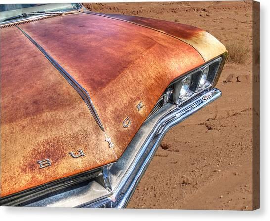 Rusty Buick Canvas Print by Gill Billington