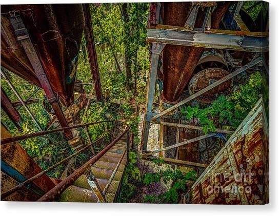 Rusty Climb Canvas Print