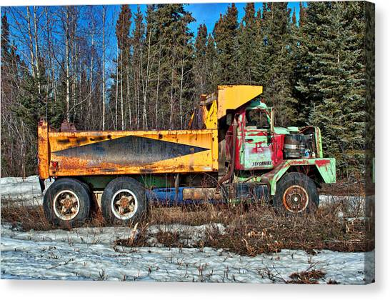 Rusty Dump Truck Canvas Print