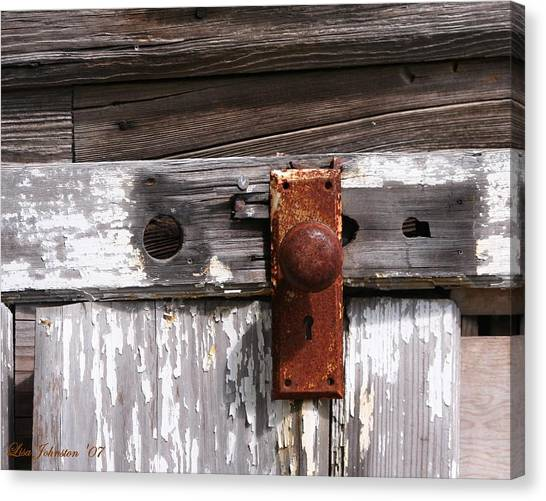 Rusty Entry Canvas Print by Lisa Johnston