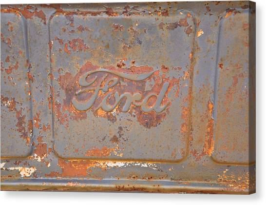 Rusty Ford Canvas Print by Jan Amiss Photography