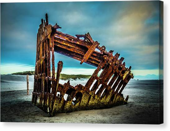Peter Iredale Canvas Print - Rusty Forgotten Shipwreck by Garry Gay