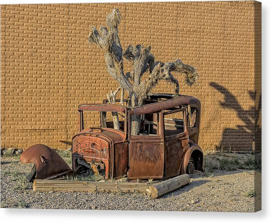 Rusty In The Desert Canvas Print