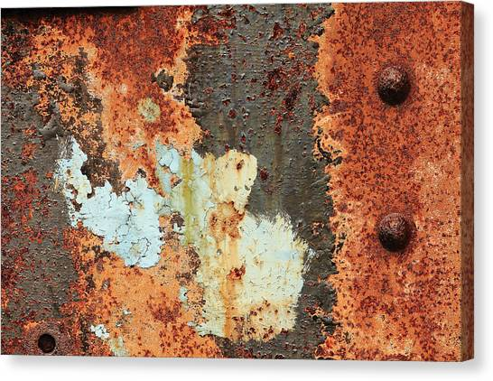 Rusty Layers Canvas Print