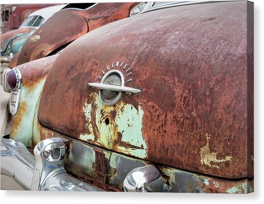 Rusty Line-up Canvas Print