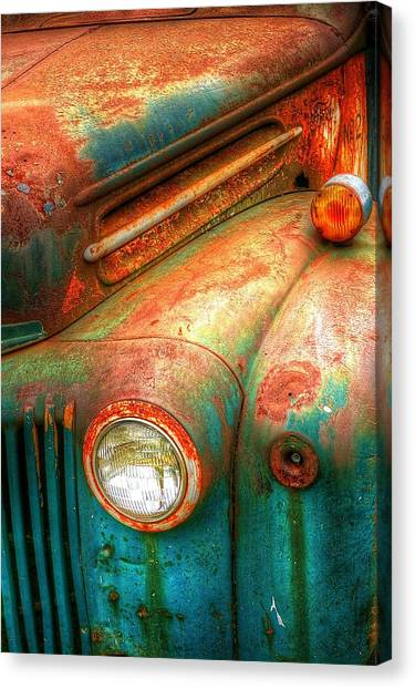 Rusty Old Ford Canvas Print