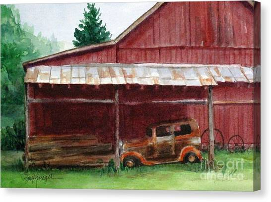 Rusty Ole Car Canvas Print by Suzanne Krueger