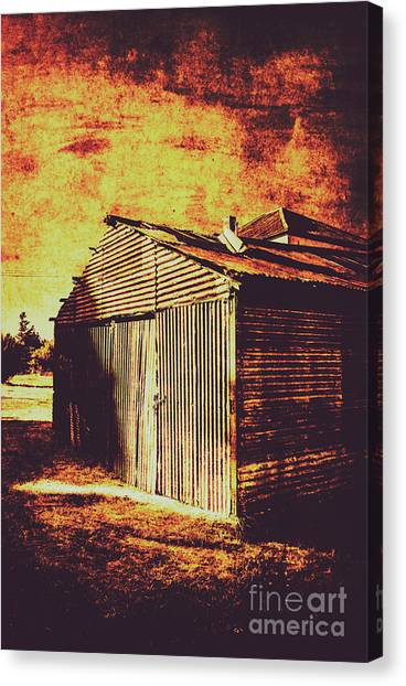 Dilapidated Canvas Print - Rusty Outback Australia Shed by Jorgo Photography - Wall Art Gallery
