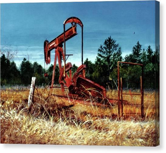 Rusty Pump Jack Canvas Print