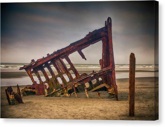 Peter Iredale Canvas Print - Rusty Shipwreck by Garry Gay