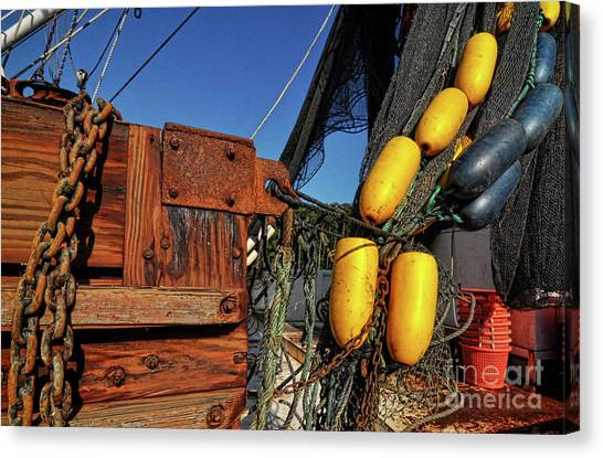 Rusty Shrimping Canvas Print