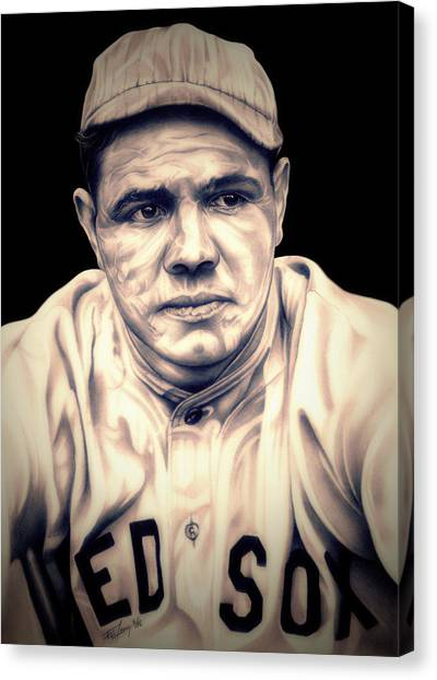 Babe Ruth Canvas Print - Ruth by Fred Larucci
