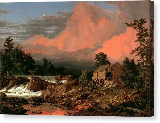 Rutland Canvas Print - Rutland Falls, Vermont by Frederic Edwin Church