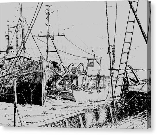 Rv Chain And Uscgss Whiting  Canvas Print