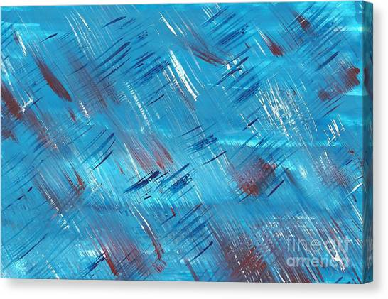 Rwb Blue With Red And White Canvas Print