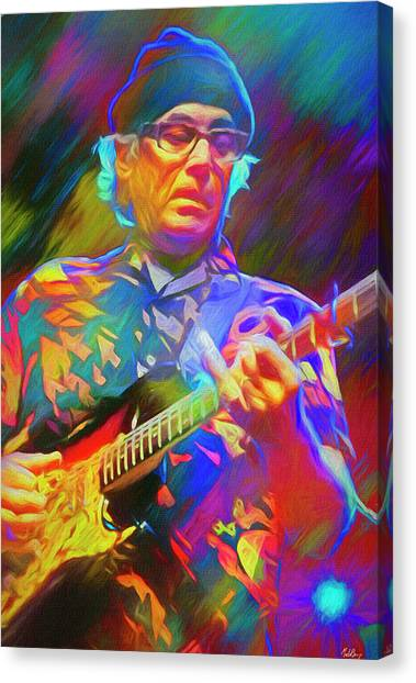 Slide Guitars Canvas Print - Ry Cooder American Musician by Mal Bray