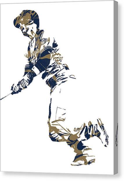 Milwaukee Brewers Canvas Print - Ryan Braun Milwaukee Brewers Pixel Art 4 by Joe Hamilton