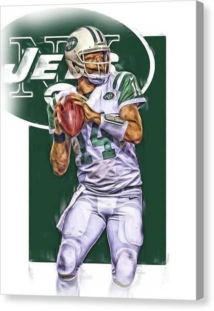 New York Jets Canvas Print - Ryan Fitzpatrick New York Jets Oil Art by Joe Hamilton