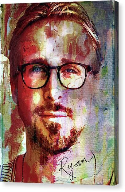 Bladerunner Canvas Print - Ryan Gosling by Mal Bray