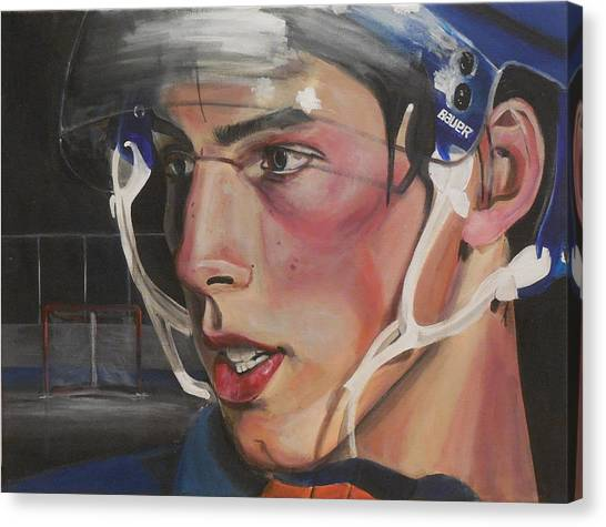 Edmonton Oilers Canvas Print - Ryan Nugent-hopkins by Toblerusse