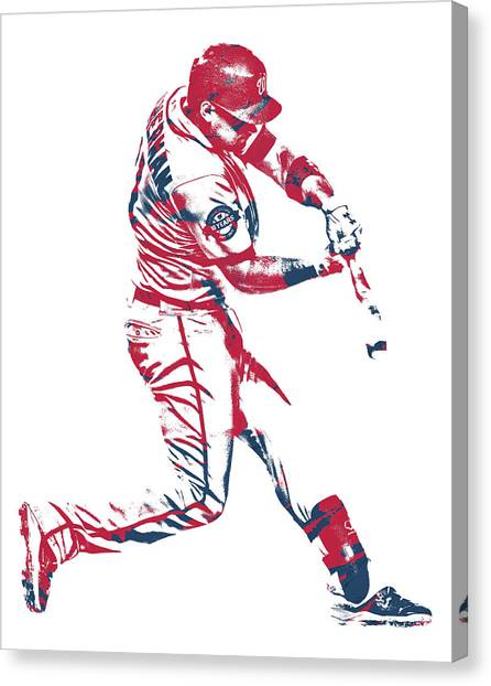 Washington Nationals Canvas Print - Ryan Zimmerman Washington Nationals Pixel Art 10 by Joe Hamilton