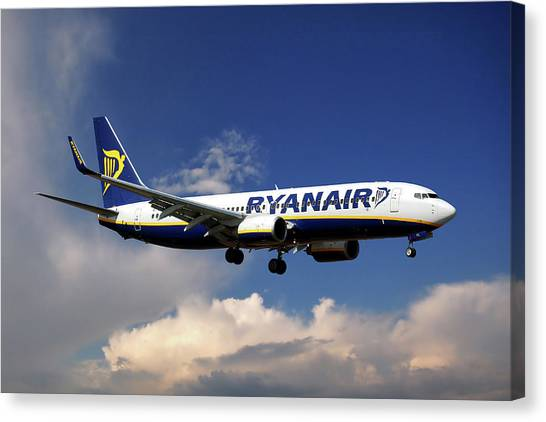 Airlines Canvas Print - Ryanair Boeing 737-8as  by Smart Aviation