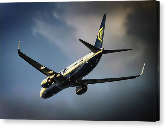 Madrid Canvas Print - Ryanair by Smart Aviation
