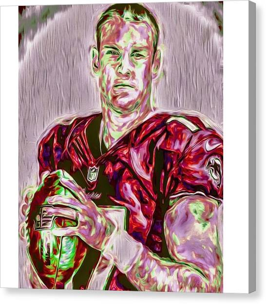 Superbowl Canvas Print - #ryantannehill #miami #miamidolphins by David Haskett
