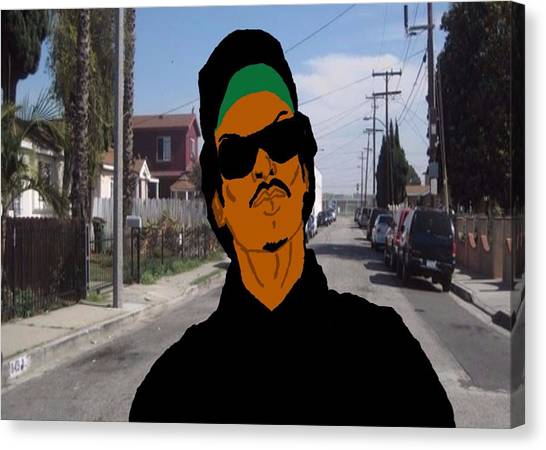 Grand Theft Auto Canvas Print - Ryder From Grand Theft Auto by Brannon Goode