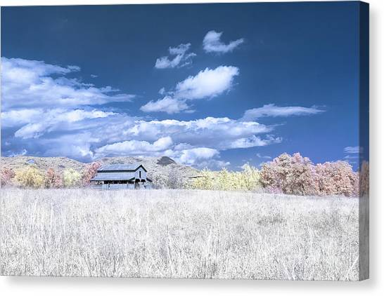 S C Upstate Barn Faux Color Canvas Print