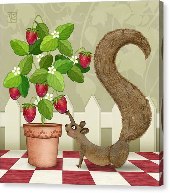 S Is For Squirrel Canvas Print
