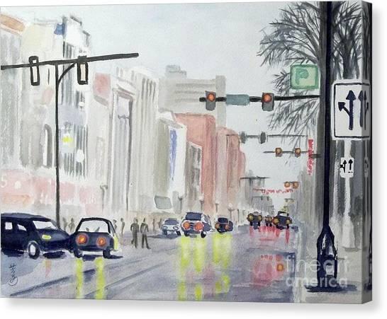 S. Main Street In Ann Arbor Michigan Canvas Print
