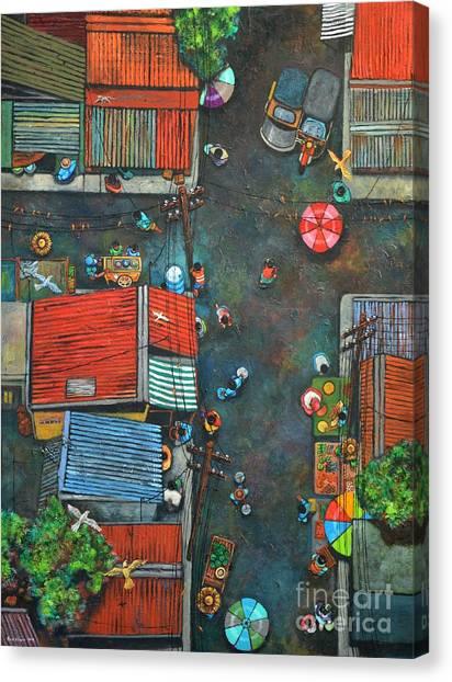 Coconut Canvas Print - Sa Lumang Palengke by Paul Hilario