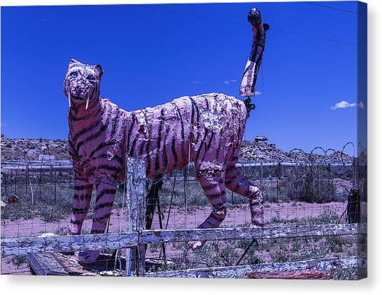 Timeworn Canvas Print - Saber-tooth Cat by Garry Gay